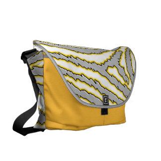 Creative Abstract Zebra Print Messenger Bag
