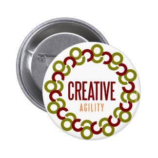 creative agility pinback button