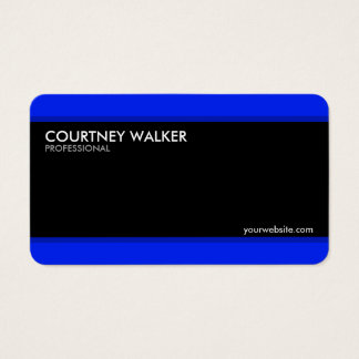 Creative and modern black and blue business cards
