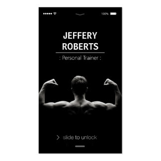 Creative and Unique Bodybuilder Personal Trainer Double-Sided Standard Business Cards (Pack Of 100)