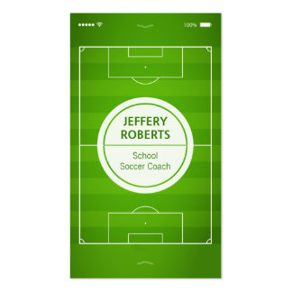 Creative and Unique - Football Soccer Coach Player Double-Sided Standard Business Cards (Pack Of 100)