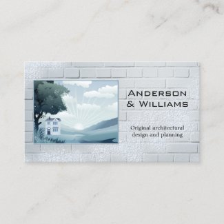 Business Cards for Architects - Creative Architectural Design Photo Business Card