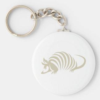 Creative Armadillo Illustration Basic Round Button Keychain