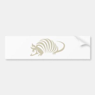 Creative Armadillo Illustration Bumper Sticker