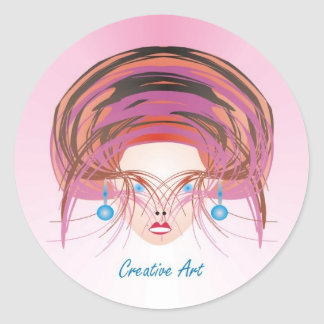 Creative Art - Faces we Remember Products Classic Round Sticker