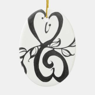 creative art pattern ceramic ornament