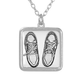 Creative Art shoes sneakers pencil art graphics bl Personalized Necklace