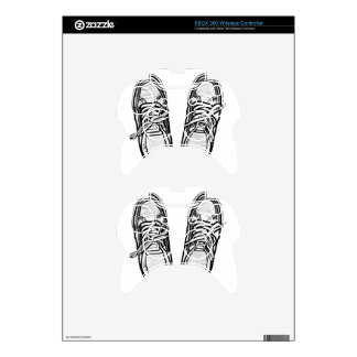 Creative Art shoes sneakers pencil art graphics bl Xbox 360 Controller Skins