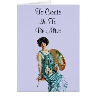 Creative Artist Note Card