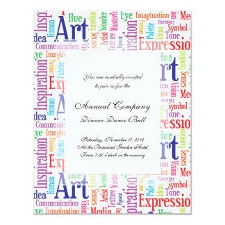 "Creative Artist or Designer's Words of Inspiration 4.25"" X 5.5"" Invitation Card"