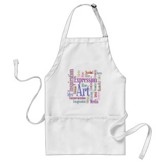 Creative Artist's Inspiration Word Art Adult Apron
