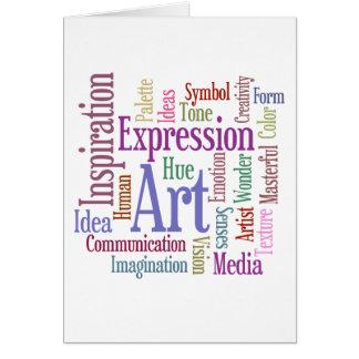 Creative Artist's Inspiration Word Art Card