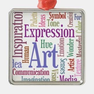 Creative Artist's Inspiration Word Art Metal Ornament