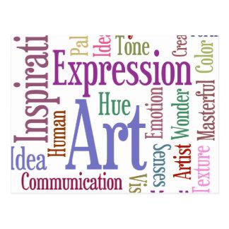 Creative Artist's Inspiration Word Art Postcard