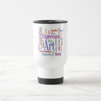 Creative Artist's Inspiration Word Art Travel Mug