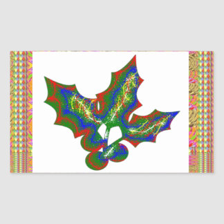 Creative Arts : HOLLY Graphics Rectangular Stickers