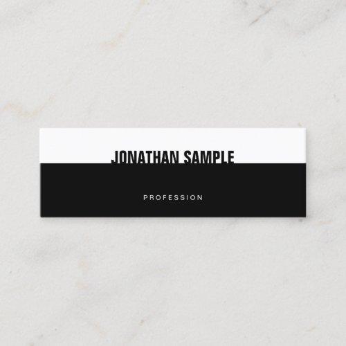 Creative BW Modern Elegant Black White Template Mini Business Card