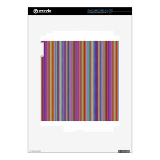 Creative backgrounds colorful lines stripes graphi decal for the iPad 2