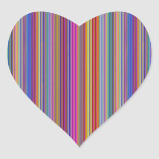 Creative backgrounds colorful lines stripes graphi heart sticker