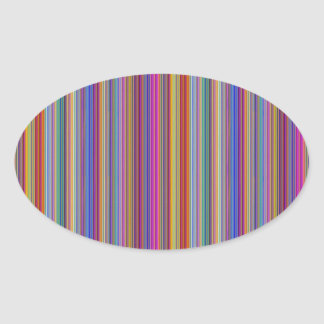 Creative backgrounds colorful lines stripes graphi oval sticker