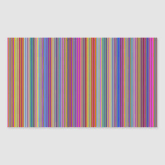Creative backgrounds colorful lines stripes graphi rectangular sticker