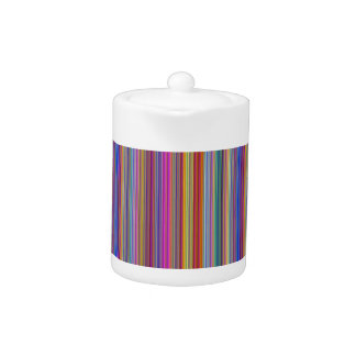 Creative backgrounds colorful lines stripes graphi teapot