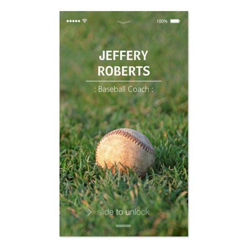 Creative Baseball Coach Baseball Trainer Business Card Templates