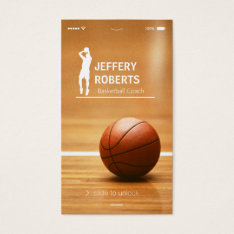 Creative Basketball Coach Basketball Trainer Business Card at Zazzle