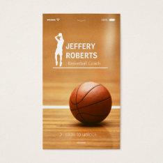 Creative Basketball Coach Basketball Trainer Business Card at Zazzle