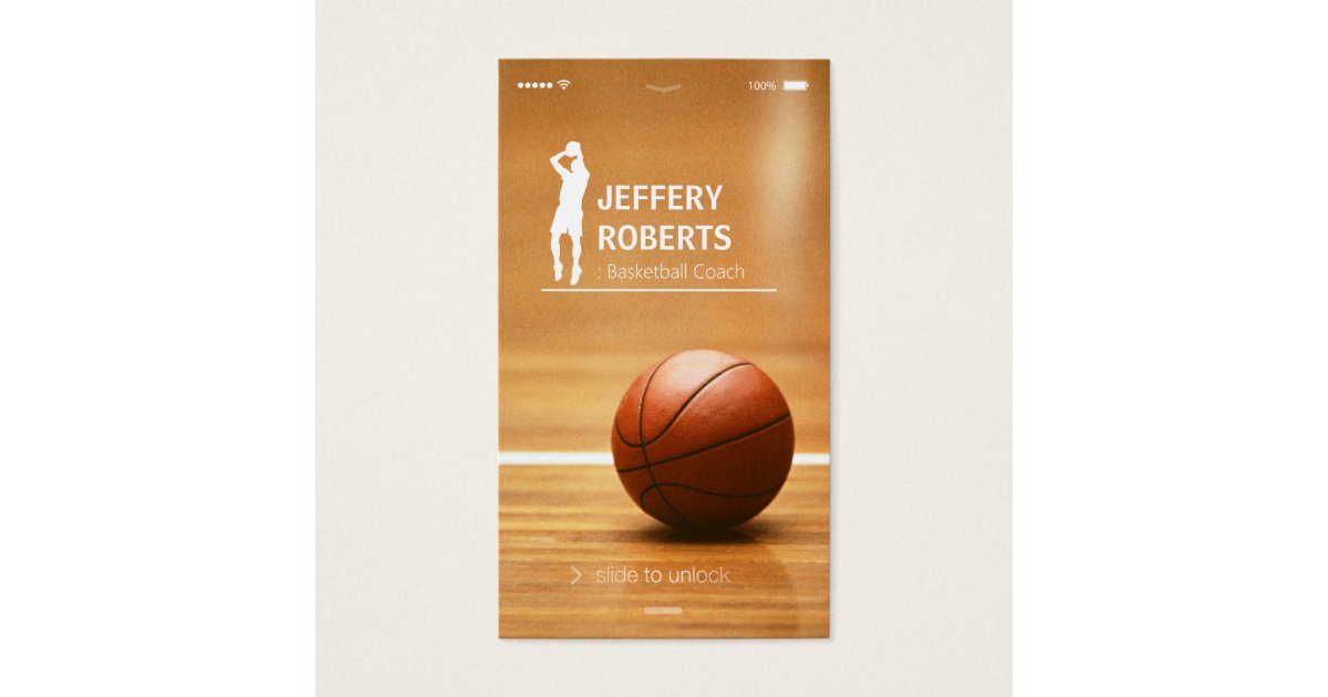 Creative Basketball Coach Basketball Trainer Business Card | Zazzle.com
