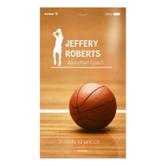 Creative Basketball Coach Basketball Trainer Double-Sided Standard Business Cards (Pack Of 100)