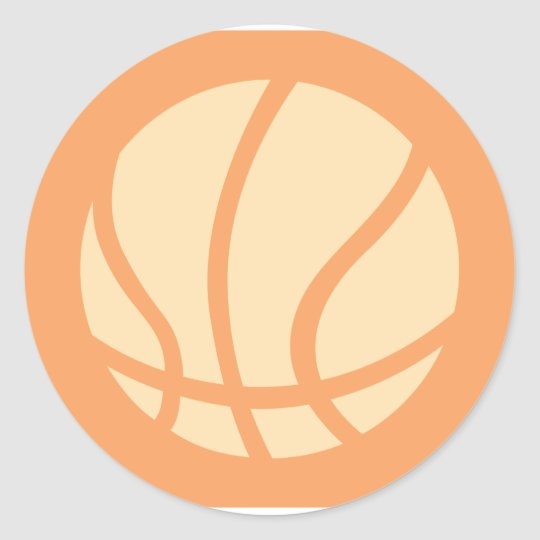 Creative Basketball Logo Classic Round Sticker