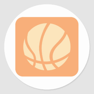 Creative Basketball Logo Classic Round Sticker