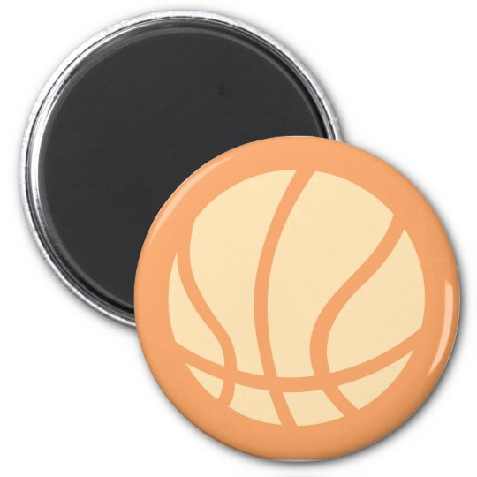 Creative Basketball Logo Magnet