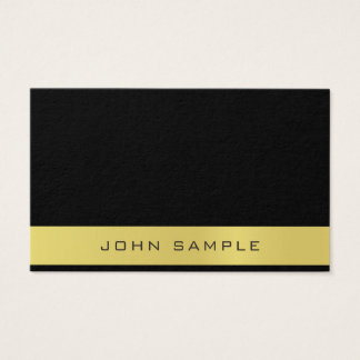 Creative Black Gold Professional Simple Plain Business Card