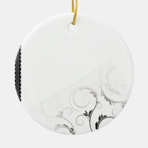 Creative black swirls ornament