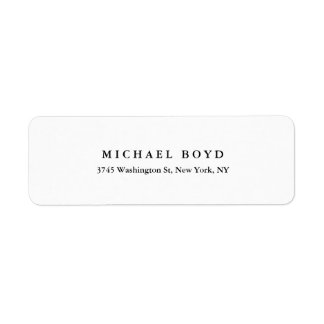 Creative Black & White Classical Professional Label