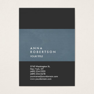 Creative Blue Gray Trendy Large Professional Business Card