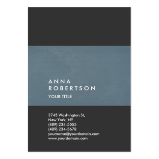 Creative Blue Gray Trendy Large Professional Large Business Card