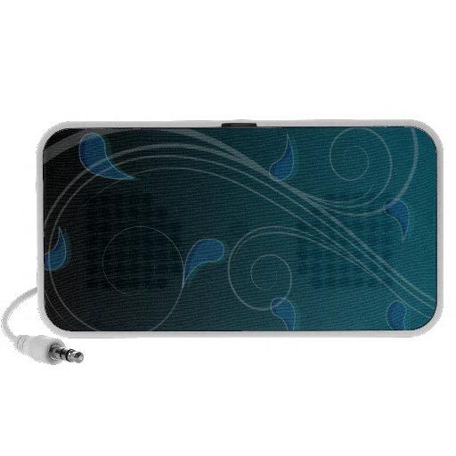 Creative bluish swirls portable speakers