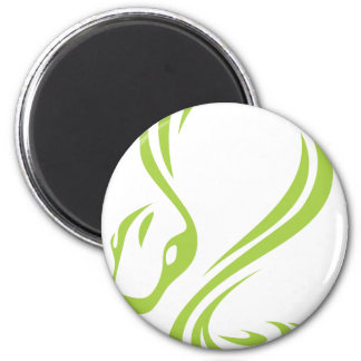 Creative Boa Constrictor Illustration 2 Inch Round Magnet