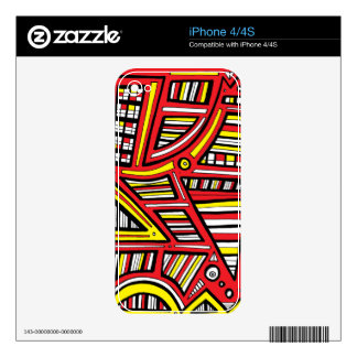 Creative Brave Dynamic Willing Skin For The iPhone 4S