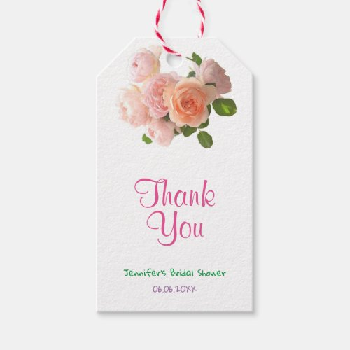 Creative Bridal Shower Thank You Handwritten Text Gift Tags