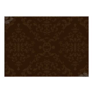 Creative brown floral gift print