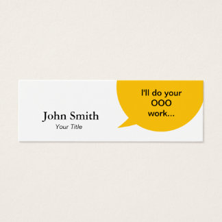 Creative Bubble Professional Mini Mini Business Card