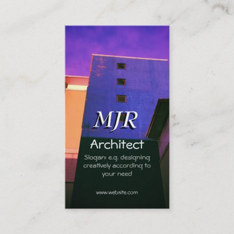 Creative buildings image, Design Architect Business Card