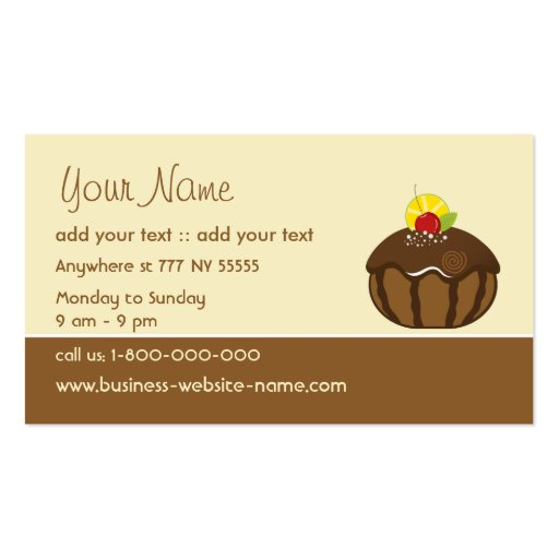 Creative Cake Business Card (front side)