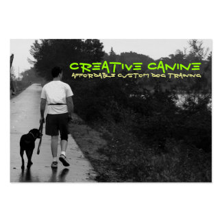 """Creative Canine """"BestnFriends on a Walk"""" Large Business Cards (Pack Of 100)"""