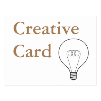 Creative Card postcard brown writing