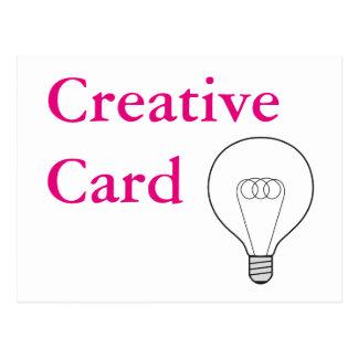 Creative Card postcard pink writing